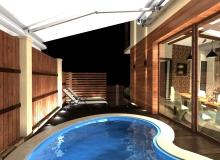 Бассейн и раздвижные окна