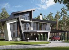 Дом с необычным дизайном