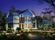 Дом с водоемом