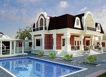 Проект дома с бассейном