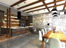 Кухня-столовая. Вид со стороны входа