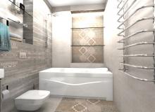 Третья ванная комната в коттедже