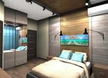 Спальная комната со стороны окна