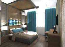 Спальная комната со стороны санузла