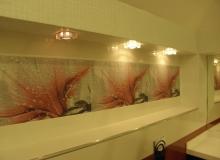 Дизайн стены в ванной комнате