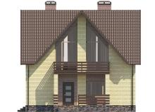 Фасад 2 - Проект дома 1+