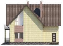 Фасад 3 - Проект дома 1+