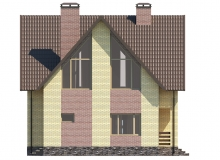 Фасад 4 - Проект дома 1+