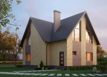 3D модель 2 - Проект дома 1+