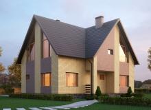 3D модель 3 - Проект дома 1+