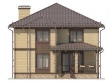 Фасад 3 - Проект дома 17+