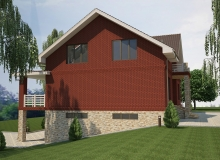 3D модель 2 - Проект дома 18+