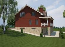 3D модель 4 - Проект дома 18+