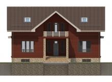 Фасад 1 - Проект дома 18+