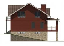 Фасад 3 - Проект дома 18+