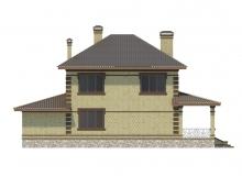 Фасад 3 - Проект дома 19+