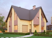 3D модель 3 - Проект дома 2+