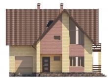 Фасад 1 - Проект дома 2+