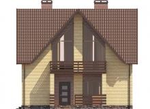 Фасад 2 - Проект дома 2+
