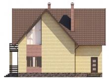 Фасад 3 - Проект дома 2+
