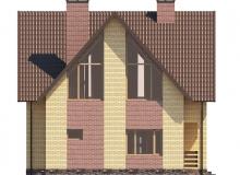 Фасад 4 - Проект дома 2+