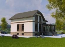 3D модель 2 - Проект дома 20+