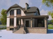 3D модель 3 - Проект дома 20+