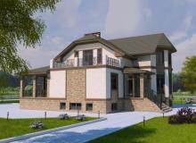3D модель 4 - Проект дома 20+