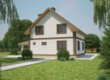 3D модель 3 - Проект дома 21+