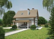 3D модель 4 - Проект дома 21+