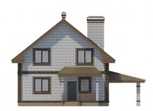 Фасад 1 - Проект дома 21+