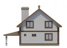 Фасад 3 - Проект дома 21+