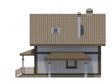 Фасад 4 - Проект дома 21+