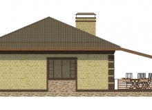 Фасад 2 - Проект дома 22+