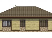 Фасад 3 - Проект дома 22+