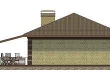 Фасад 4 - Проект дома 22+