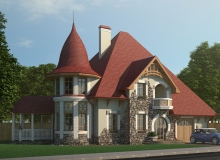 3D модель 2 - Проект дома 23+