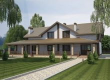 3D модель 2 - Проект дома 24+