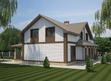 3D модель 3 - Проект дома 24+