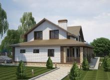 3D модель 4 - Проект дома 24+
