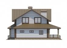 Фасад 1 - Проект дома 24+