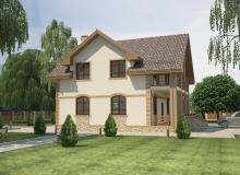 3D модель 2 - Проект дома 25+