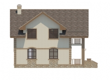 Фасад 1 - Проект дома 25+