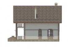 Фасад 2 - Проект дома 25+