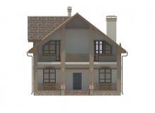 Фасад 3 - Проект дома 25+