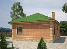 3D модель 3 - Проект дома 26+