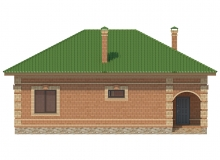 Фасад 1 - Проект дома 26+