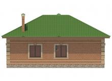 Фасад 3 - Проект дома 26+