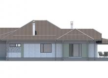 Фасад 3 - Проект дома 27+