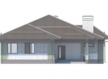 Фасад 4 - Проект дома 27+